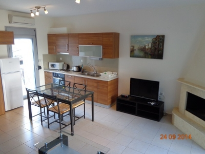 Кухня в еднофамилна къща под наем в Керамоти